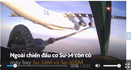 Cảnh tiếp nhiên liệu ngoạn mục trên không của chiến đấu cơ Nga