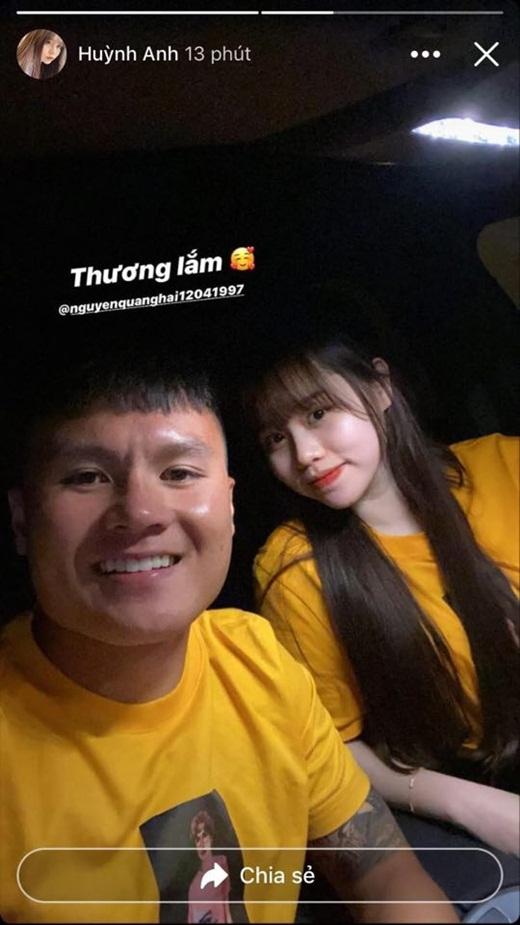 Quang Hải - Huỳnh Anh khoe ảnh ngọt ngào sau trận thắng của CLB Hà Nội